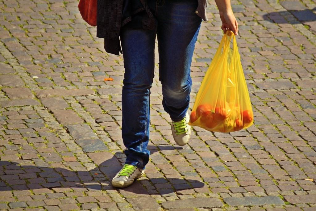 sacola plástica para mercado