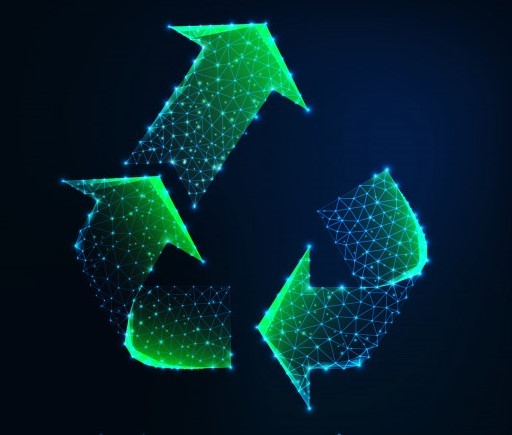 símbolo de sustentabilidade tecnológico