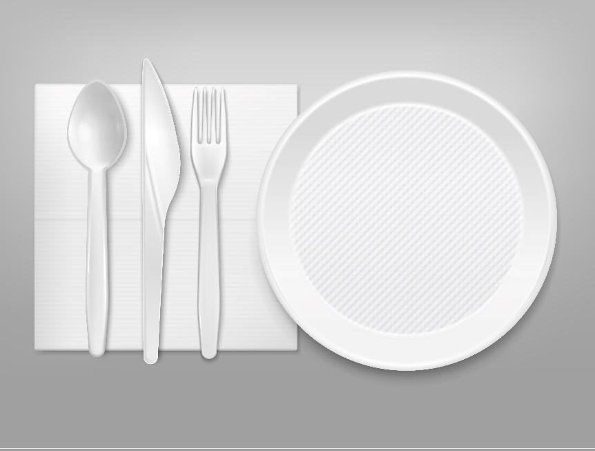 produtos descartáveis de alimentação