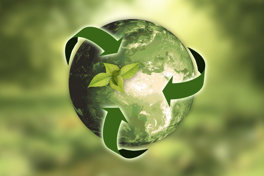 planeta em símbolo de sustentabilidade